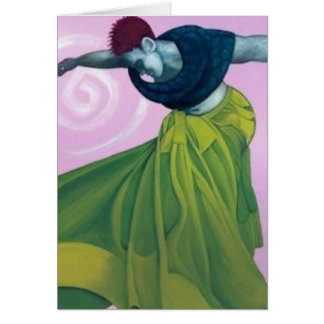 A Freed Woman's Dance Greeting Card