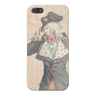 A French Incroyable Dandy, Men's Fashions Cover For iPhone SE/5/5s