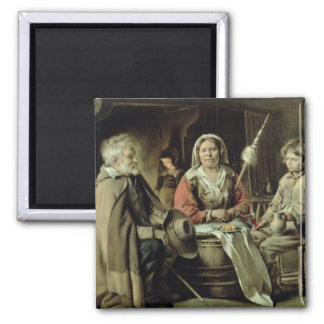 A French Interior, c.1645 2 Inch Square Magnet