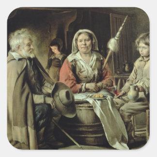 A French Interior, c.1645 Square Sticker