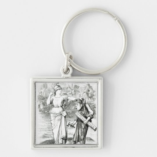 A French Lesson', cartoon from 'Punch' Keychain