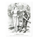 A French Lesson', cartoon from 'Punch' Postcard