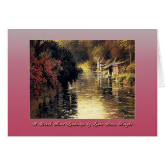 A French River Landscape by Louis Aston Knight Cards