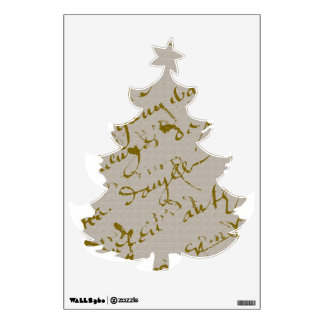 A French script Christmas Tree Wall Graphics