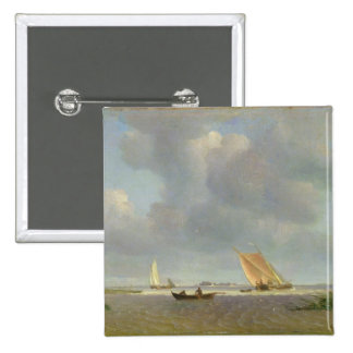 A fresh breeze on the Elbe, c.1830 Button