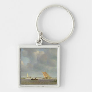 A fresh breeze on the Elbe, c.1830 Keychain