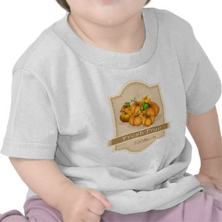 A fresh fruit label with pumpkins tees