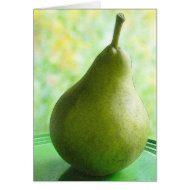 A Fresh Organic Pear card