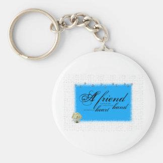a friend boque basic round button keychain