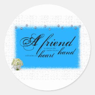 a friend boque classic round sticker