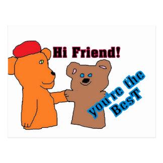 A FRIEND card Postcard