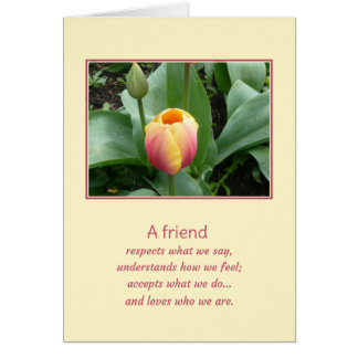 A friend... greeting card