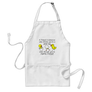 A friend is someone adult apron