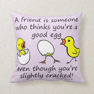 A Friend is Someone Funny BFF Saying Throw Pillow
