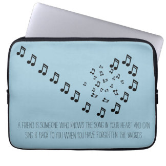 A Friend Knows the Song in your Heart Laptop Case Computer Sleeve