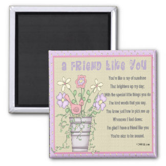 A Friend Like You 2 Inch Square Magnet