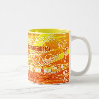 A Friend Loves At All Times... - Customized Two-Tone Coffee Mug