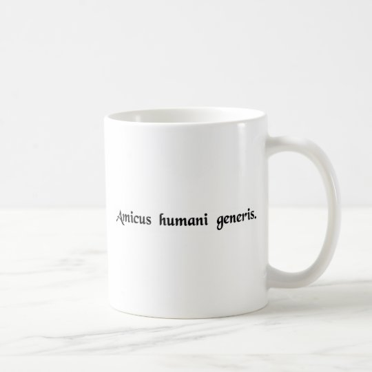 A friend of the human race coffee mug
