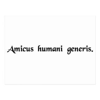 A friend of the human race postcard
