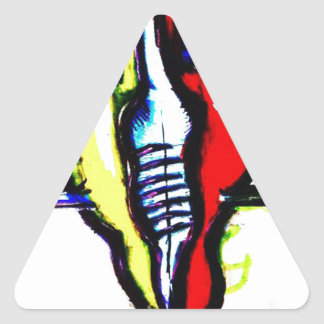 A Friend to Ideas and Ghosts Triangle Sticker