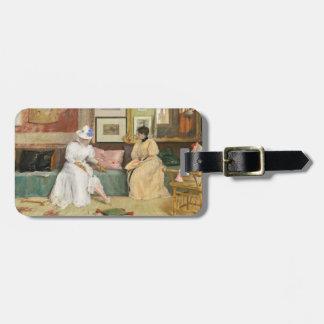 A Friendly Call, 1895 (oil on canvas) Bag Tag