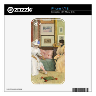 A Friendly Call, 1895 (oil on canvas) iPhone 4 Decals