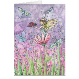 A Friendly Encounter Fairy Greeting Card