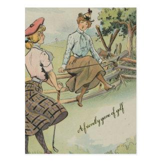A Friendly Game of Golf Postcard