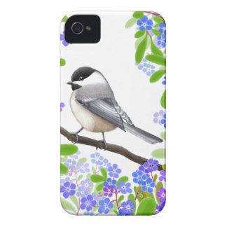 A Friendly Little Chickadee iPhone 4 Case