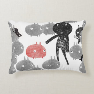 A friendly visit to the bunnyland 2014 accent pillow