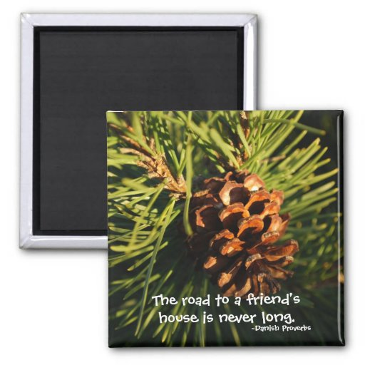 A Friend's House Vermont Pine cone Magnet