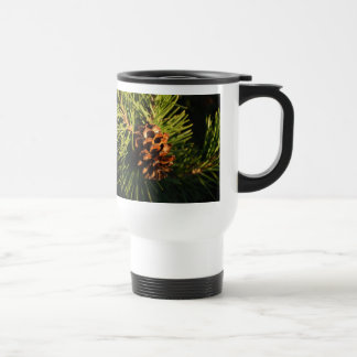 A Friend's House Vermont Pine cone 15 Oz Stainless Steel Travel Mug