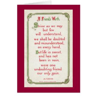 A Friend's Worth Card