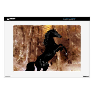 """A friesian in winter snow decals for 15"""" laptops"""