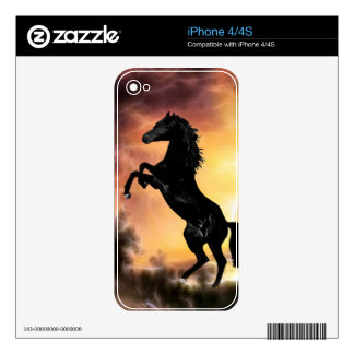 A Friesian Stallion horse rearing Decals For The iPhone 4S