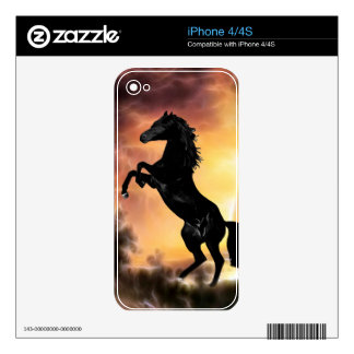A Friesian Stallion horse rearing Skin For The iPhone 4S