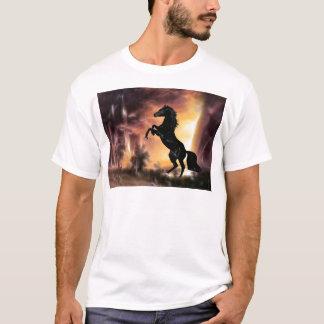 A Friesian Stallion horse rearing T-Shirt