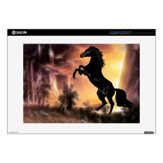 """A friesian stallion rearing 15"""" laptop skin"""