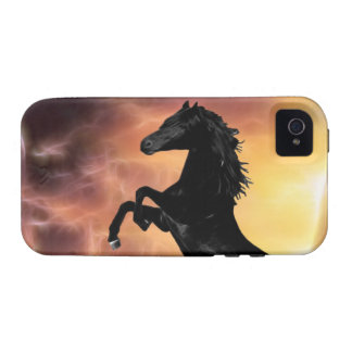 A friesian stallion rearing iPhone 4/4S covers