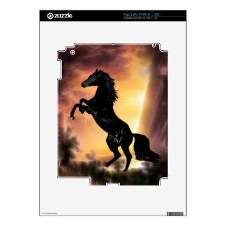 A friesian stallion rearing iPad 2 decals