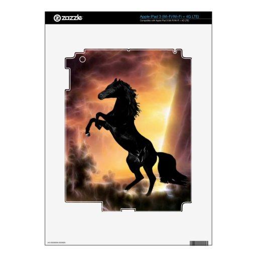 A friesian stallion rearing skin for iPad 3