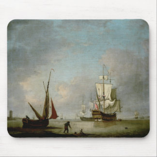 A Frigate in Calm Water Mouse Pad