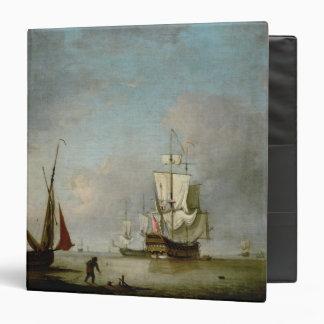 A Frigate in Calm Water Vinyl Binders