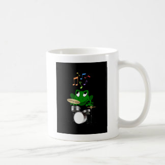 A Frog Dreams of Playing The Drums In A Rock Band Coffee Mug