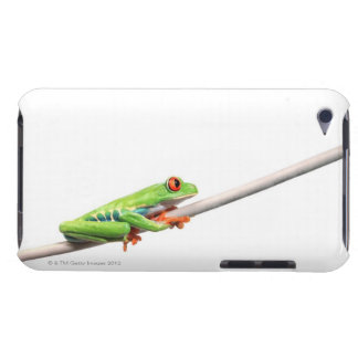 A frog hanging on barely there iPod case