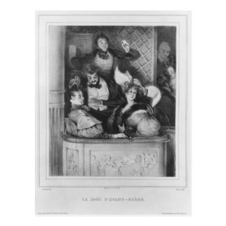 A front theatre box, engraved by Julien Postcard