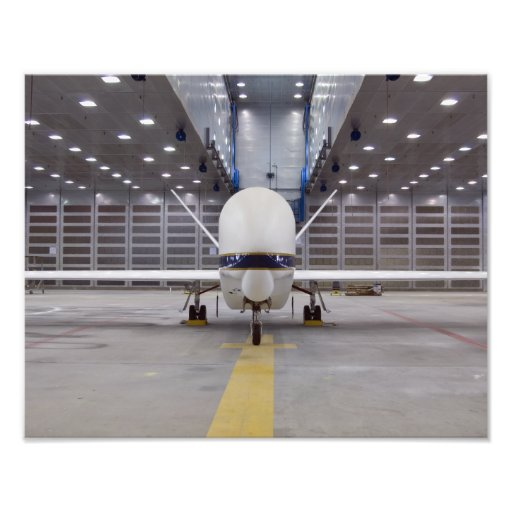 A front view of a Global Hawk unmanned aircraft Photographic Print