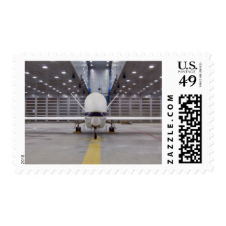 A front view of a Global Hawk unmanned aircraft Postage