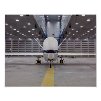 A front view of a Global Hawk unmanned aircraft Poster