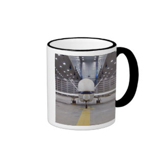 A front view of a Global Hawk unmanned aircraft Ringer Mug